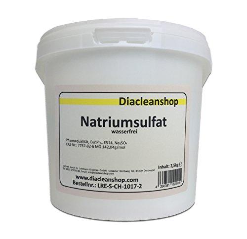 Glaubersalz 2,5kg Natriumsulfat E514 Na2SO4 wasserfrei Pharmaqualität