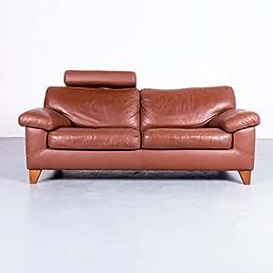 Amazon.de: Machalke Designer Sofa Braun Leder Zweisitzer