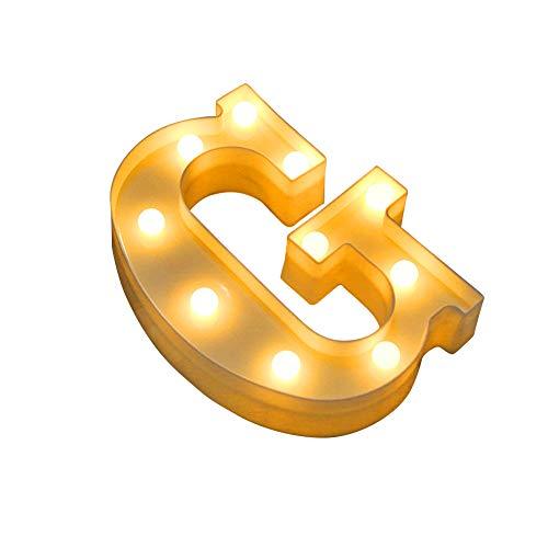 display08 LED-Lampe mit Buchstaben-Symbol, für Hochzeit, Party, Bar-Dekoration, 1 Stück g