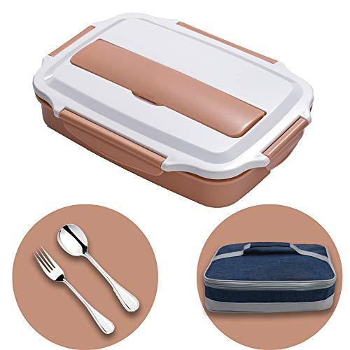 HUAFA Lunchbox, Praktische Bento Box für den Transport von Mahlzeiten, Design Brotdose für die Schule und Arbeit, Brotdose für Kinder & Erwachsene (Rosa)