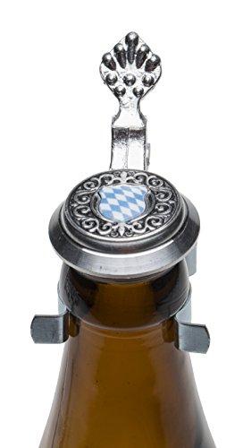Schnabel-Schmuck Bayern Bierflaschen Zinndeckel mit farbigen Wappen