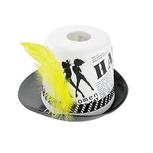 Tissue Box plastique noir Blanc d'impression de journal Cowboy forme de chapeau de cas