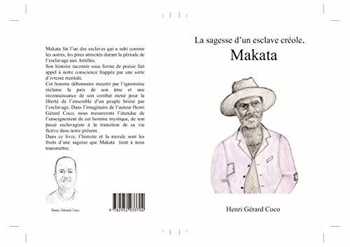Couverture du livre La sagesse d'un esclave créole. MAKATA