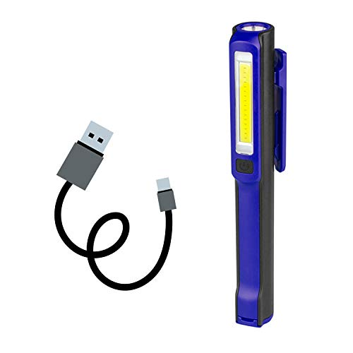 Three trees Workshop Torch LED Arbeitslicht Mini(PLUS)Hoch Hell Super Stifttaschen lampe des Bright for Wandern,Garage,Autoreparatur,Notfall kits(Blue) -