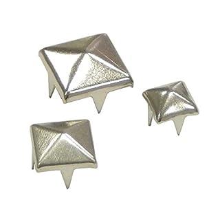 Perlin - 600stk Spitzenieten Killernieten Ziernieten Metall 8mm 6mm Nieten Spikes Spitz Gothic Punk Metall Pyramiden Rock Leder Tasche Schuh Nieten für Mode Handwerk und Design