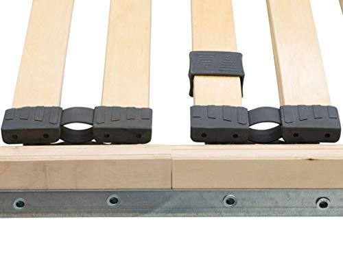 Dekoleidenschaft 10 Stück Spezialkappen für Lattenrost, 12x35 cmm, schwarz