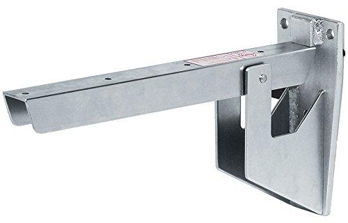 GedoTec metal–Tirantes gris–Consola plegable asiento Banco de consola, profundidad 388mm, 500kg, galvanizado...