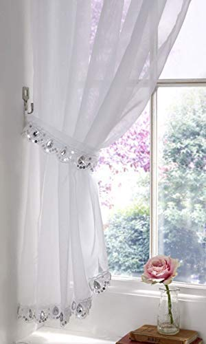 2 X MAGNETIC FLORAL TIEBACKS RED SILVER DIAMANTE METAL CURTAINS VOILES NETS 14 Home, Furniture & DIY Curtain & Blind Accessories