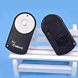 Kakooze RC-6 RC6 IR Wireless Remote Control for Canon Models (Black) (Battery Included Inside)
