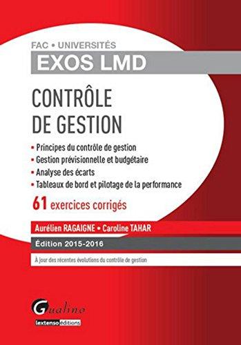 Exos LMD - Contrôle de gestion par Aurelien Ragaigne