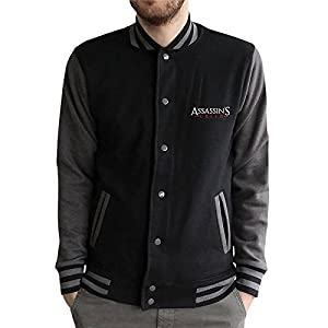 Assassins Creed College Jacke Game Logo schwarz grau