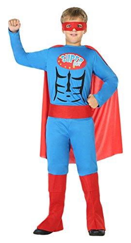Kinder Superboy Kostüm - ATOSA 39429 Superboy Kostüm boys 140