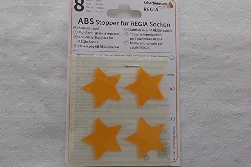 Plush ABS Stopper für Regia Socken - Sterne in gelb
