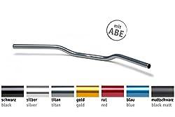 LSL Lenker Superbike Flat Alu schwarz perlgestrahlt mit ABE