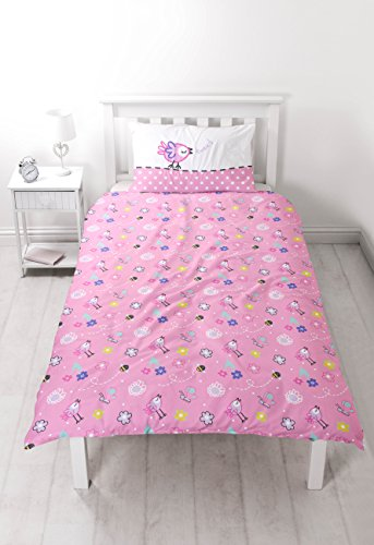 Peppa Pig HAPPY' Single Duvet Set – Large Print Design