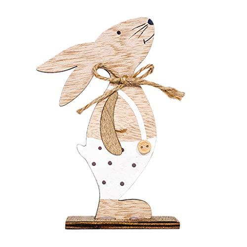 tur !!! Beisoug Cute Nordic INS Ostern Schreibtisch Dekorationen Holzkaninchen Formen Ornamente Handwerk Geschenke ()
