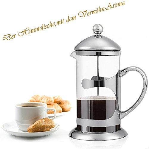 Homdox 1000ML Kaffeebereiter French Press 2 IN 1/ mit Edelstahlfilter /Kassischer Design/ für herrlichen aromatischen Espresso oder Tee/ Schenell Einfache genißen/Aroma-Genuss durch den Kaffeebereiter