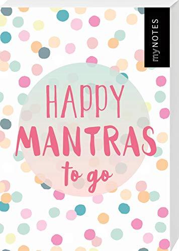 Happy Mantras to go - 50 Kärtchen zum Glücklichsein: Box mit 50 Karten für mehr Glück, Achtsamkeit und gute Laune an jedem Tag, Spielkartenformat
