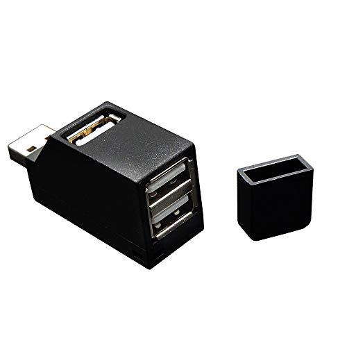 Prevently 3 Port USB 2.0 Hub Super Speed Verteiler High Speed Hub Splitter Für PC Notebook Laptop Mac (Schwarz) Mac-splitter