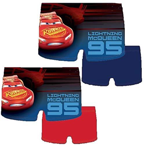 McQueen Cars 2019/2020 - Bañador para Hombre, diseño de Cars, Color Rojo y Azul Azul 4 años