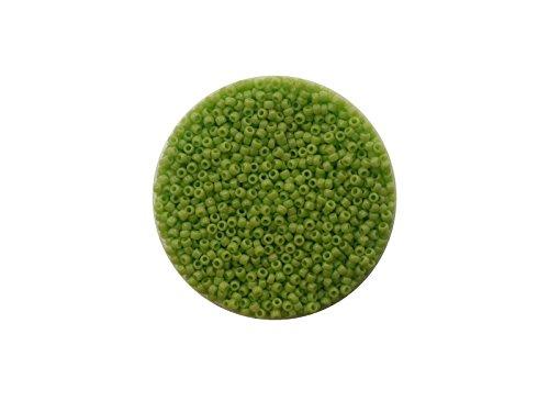 Toho Rocailles, 15/0 (ca. 1,5mm), 10g, TR44 Opaque Sour Apple, hochwertige japanische Glasperlen für Schmuck, Armbänder selber machen, basteln und Deko -