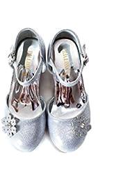 ELSA & ANNA® Ragazze Ultimo Design Buona Qualità Principessa Regina delle Nevi Gelatina Partito Scarpe sandali SIL12-SH (SIL12-SH, EURO 26-Lunghezza 17.3cm)