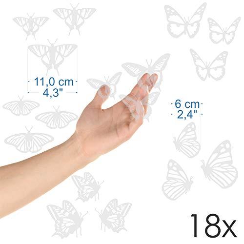 41mZiXCjmcL - imaggge.com - Pegatinas anticolisión para Puertas de Cristal (18 Mariposas detalladas) - Evita los Golpes de pájaros o choques de Personas en los Cristales