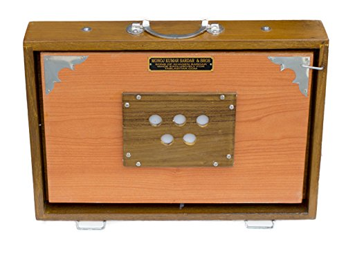 MKS Concert Shruti Box - Teak Wood - Natural Color - 13 Drone (PDI-AGB)