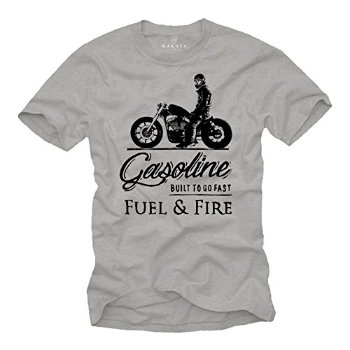 Moto accessori - abbigliamento vintage biker t-shirt cafe racer - sons of anarchy grigio xxl