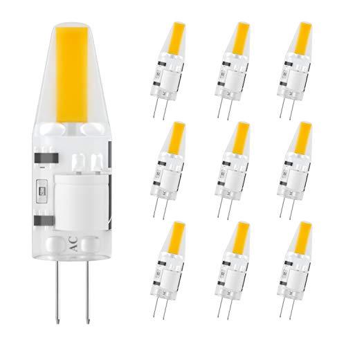 DiCUNO G4 LED Lampe 2W, AC/DC 12 V mit 200 LM, COB,Ersatz für 20W Halogen Lampen,Warmweiß 3000k,Nicht dimmbar,Kein Flackern, 10-er Pack[Energieklasse A+] -