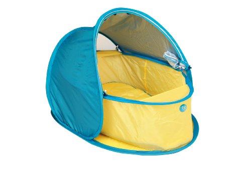 dBb Remond cuna Pop Up anti-UV y colchón-amarillo/azul