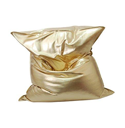 MESANA S-10101/08 Premium Outdoor Risensitzsack Nugget mit Innensack, 130 x 170 cm, gold