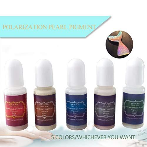 TDYL Polarisations-Pigment aus Kunstharz, 5 Farben