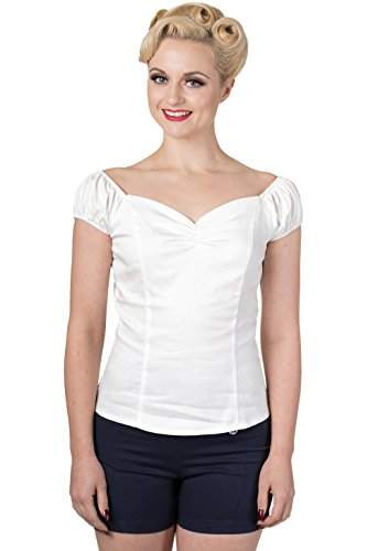 Dancing Days - T-shirt - Uni - Femme Blanc - Blanc cassé