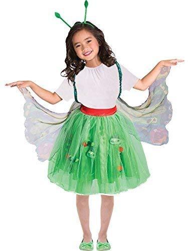 Mädchen Offiziell Very Hungry Caterpillar Schmetterling Mini Biest Welttag des Buches-Tage-Woche Maskenkostüm ()
