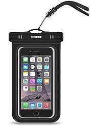 """Étui universel imperméable à l'eau, sacoche Housse pour téléphone cellulaire Kosse pour iPhone 7 6S 6,6S Plus, SE 5S, Samsung Galaxy S7, S6, note 5 4, HTC LG Sony Motorola Motorola jusqu'à 6.0 """"diagonale -Noir"""