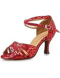 misu - Zapatillas de danza para mujer Rojo Red, color Azul, talla 40 2/3