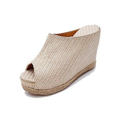 Zormey Damen Sandalen Komfort Im Sommer Baumwolle Outdoor Keilabsatz Schnalle Zu Fuß US7.5 / EU38 / UK5.5 / CN38