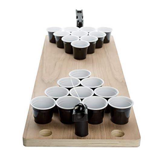 Kobert-Goods-Shot-Pong-Das-Legendre-Bier-Pong-als-Mini-Version-mit-Shots-Hochwertiger-Mini-Holztisch-inkl-25-Shot-Bechern-2-Fingerkatapulten-Ball-fr-Jede-Party-unterwegs-als-Travel-Set