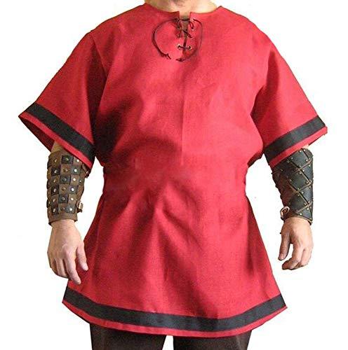Babao Herren Mittelalterliches Kostüm Piratenkostüm Renaissance Cosplay Kostüm (Renaissance Kostüm Männlich)