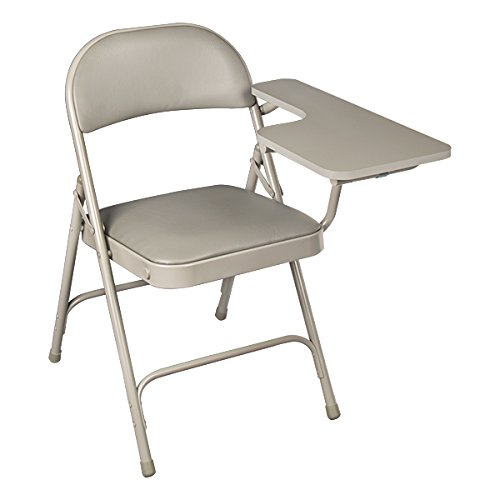 School Outfitters NOR-SRO593-LTA-VGR-SO Norwood Commercial Furniture 6600 Series Vinyl Padded Folding Chair with Tablet Arm (Pack of 2) (Folding Arm Chair)