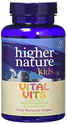 Higher Nature Vital Vits Childrens Chewable Multi Vitamins - Pack of 90 Tablets by Higher Nature