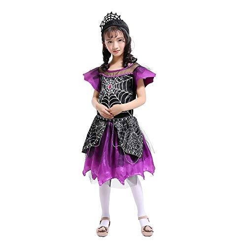 Kostüm Mumie Kinder Mädchen - Kinder ärmellose Halloween Performance Anzug Spinne Cosplay Kostüm Rock + Stirnband Kleinkind Mädchen Spinne Kostüm Kleider Outfits Kleidung