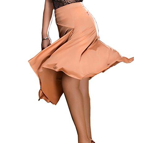 Rumba skirt Split half skirt Latin dance skirt Cha Cha skirts Tango dress Pink