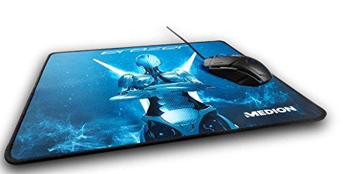 MEDION ERAZER X89011 Mousepad (Gaming Mousepad, Stark haftende Unterseite, Robust, strapazierfähig, vernähter Rand) Blau