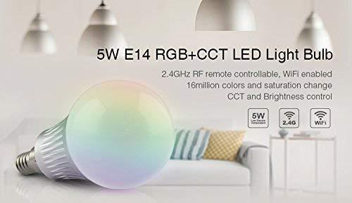 MiLight LED-Birne RGB-WW E14 5W steuerbar WiFi -