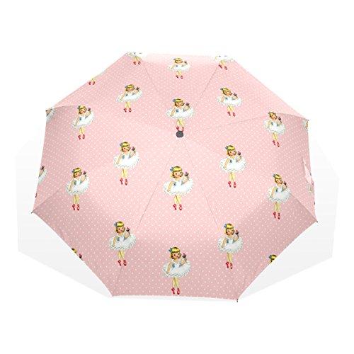 5b04f8dd1 GUKENQ - Paraguas de Viaje para Bailarina, diseño de Ballet, Color Rosa,.