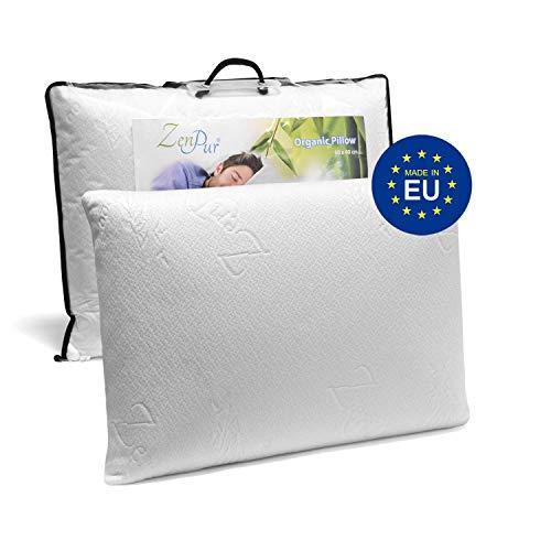 Oreiller Memoire Forme Cervicales Douloureuses Fabriqué en Europe - Certification OEKO TEX - Oreiller Anti Ronflement, Orthopédique et Ergonomique (40x60cm-Normal)