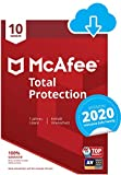 McAfee Total Protection 2020 | 10 Geräte | 1 Jahr | PC/Mac/Smartphone/Tablet | Download Code