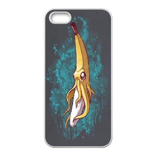 {Banana Series} IPhone 5,5S Case Banana Squid, Case Doah - White